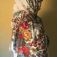 Хустка утеплена українська з орнаментом, фото 1