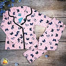 Байкова піжаму для дівчинки Розміри: 5,6,7,8,9 років (21100-1)