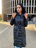 Пальто женское из плащевки; Размер: S, M, L, XL; Цвет : черный, зеленый, фото 9