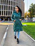 Пальто женское из плащевки; Размер: S, M, L, XL; Цвет : черный, зеленый, фото 7