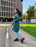 Пальто женское из плащевки; Размер: S, M, L, XL; Цвет : черный, зеленый, фото 6