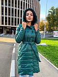 Пальто женское из плащевки; Размер: S, M, L, XL; Цвет : черный, зеленый, фото 5
