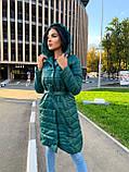 Пальто женское из плащевки; Размер: S, M, L, XL; Цвет : черный, зеленый, фото 4