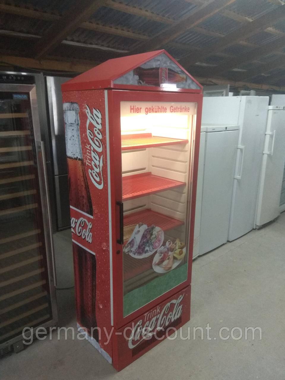 Винтажный холодильник Coca-Cola, холодильная витрина ретро