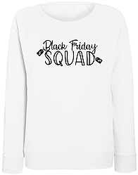 "Женский свитшот ""Black Friday Squad"" (белый)"