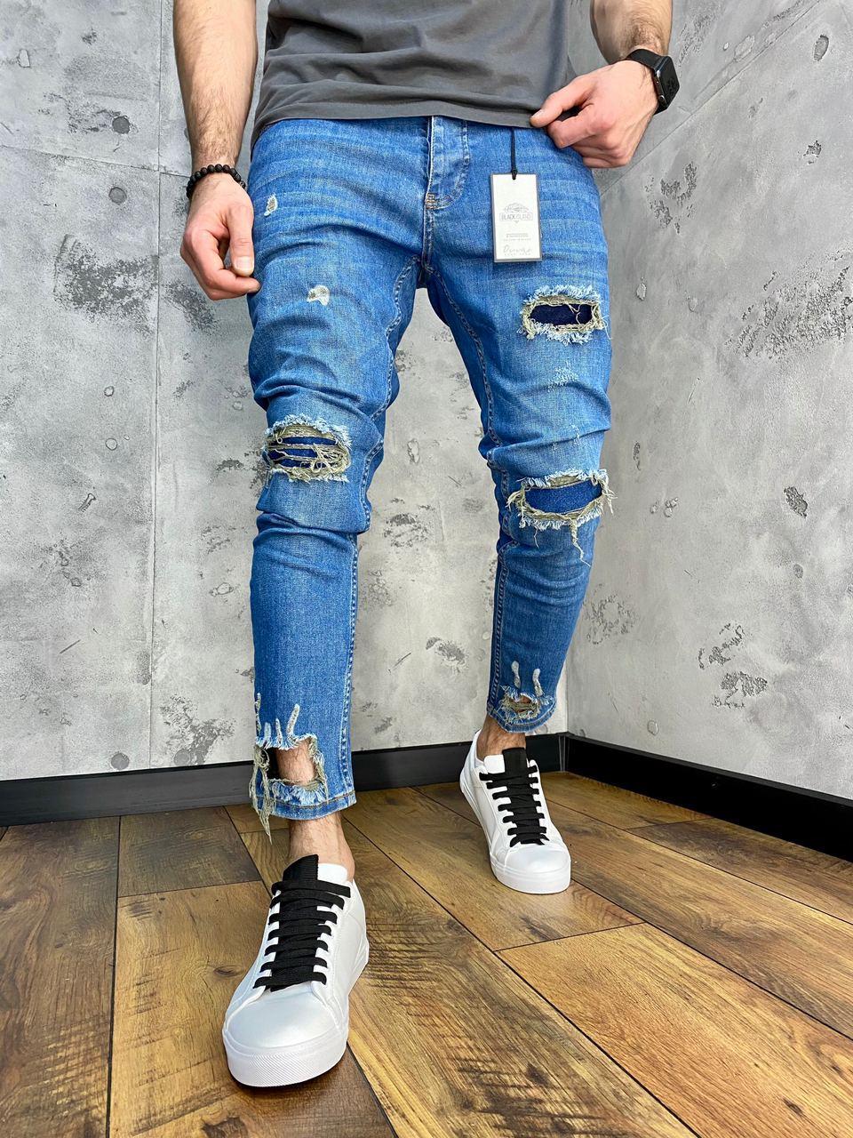 😝 Джинсы - голубые мужские джинсы