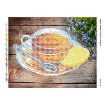 """Схема для вишивки бісером """"Чай з лимоном"""" БР-4074"""