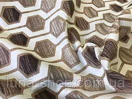 Скатерть Соты коричневые, хлопковая  непромокаемая с тефлоновым покрытием, все размеры
