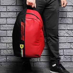 Городской рюкзак в стиле Puma Ferrari Fanwear Backpack красного цвета, фото 2