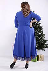 Платье миди электрик больших размеров, фото 3