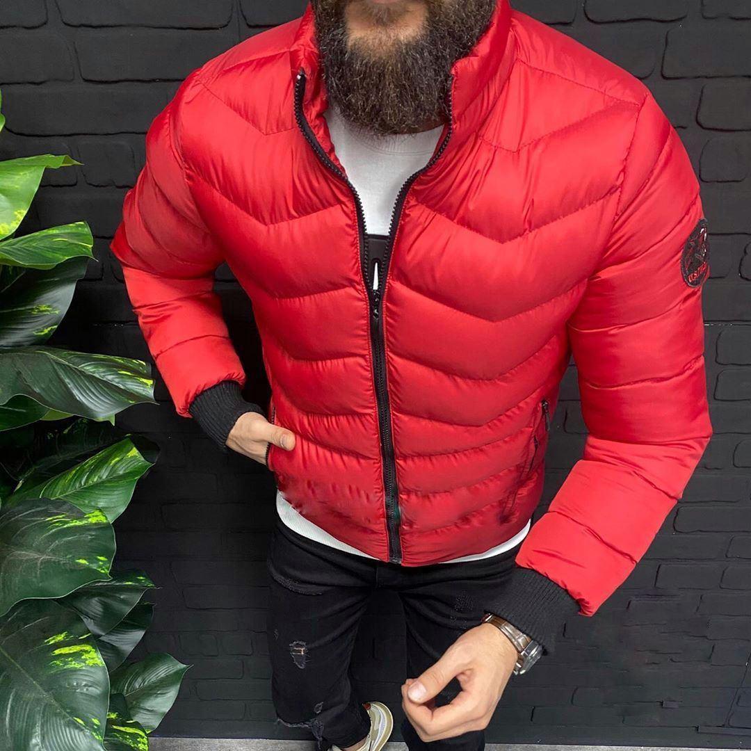 😜 Куртка - Мужская куртка полистер красная