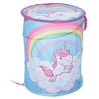 Корзина для игрушек M 6054-3 (My Little Pony), 47-38см, с ручками, с крышкой