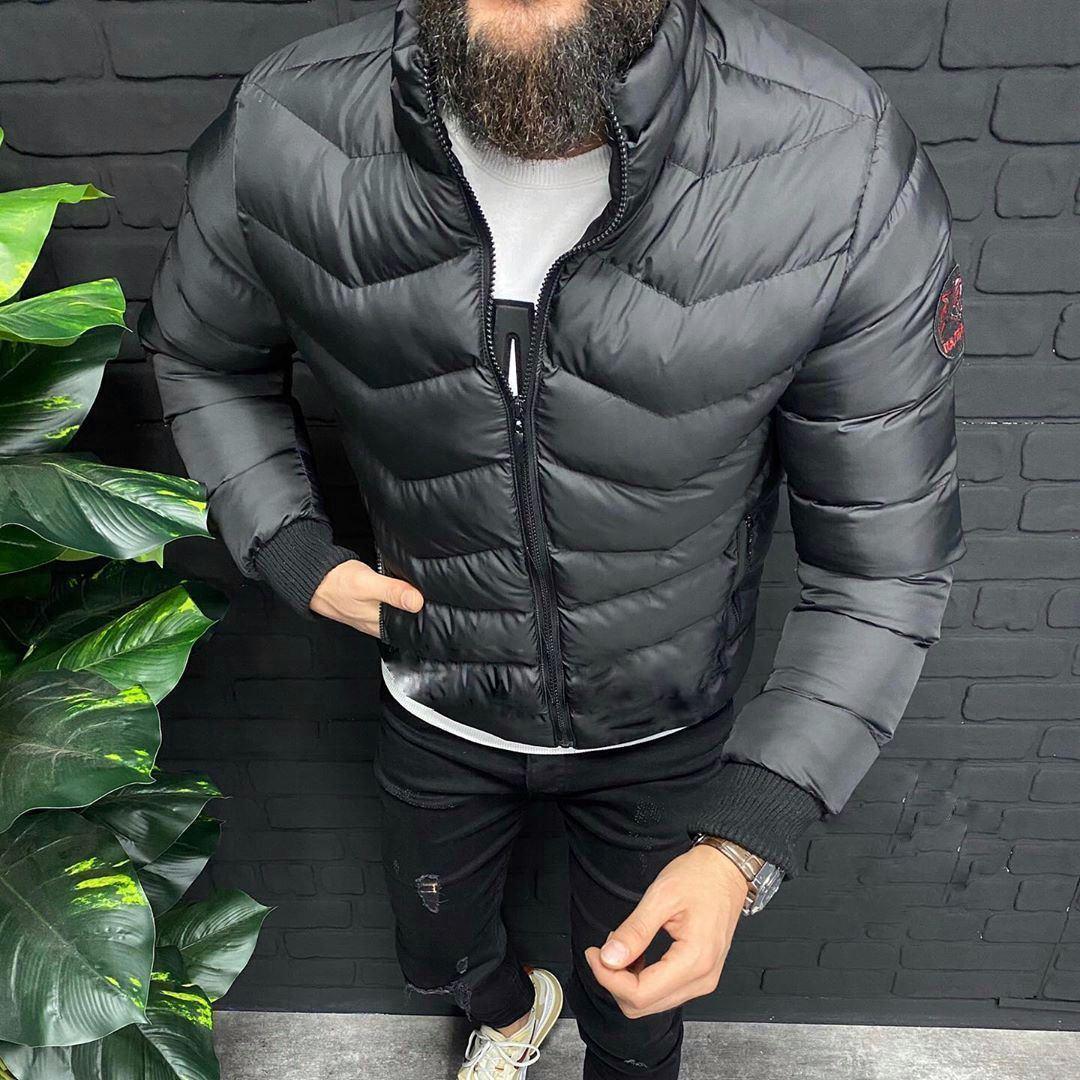😜 Куртка - Мужская куртка полистер черная