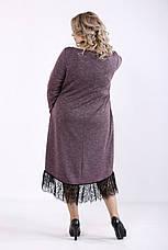 Платье больших размеров с кружевом и карманами, фото 3