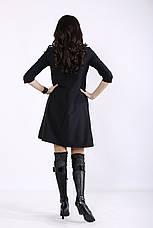 Черное платье с карманами для офиса большое, фото 3