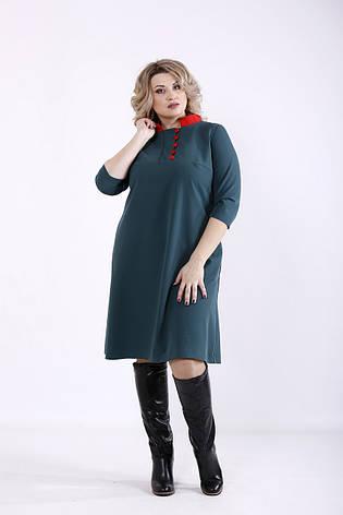 Зелене плаття для повних жінок офісне, фото 2