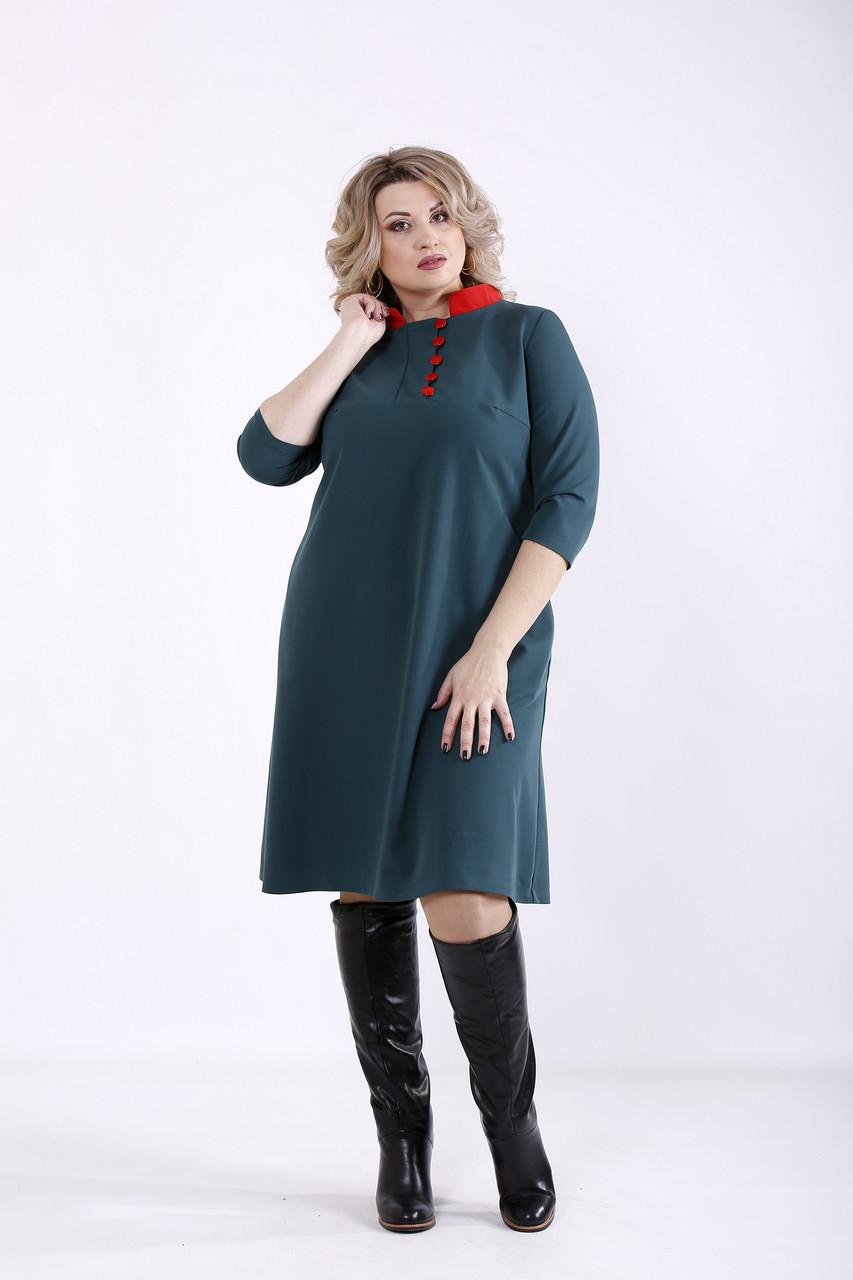 Зелене плаття для повних жінок офісне