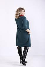 Зелене плаття для повних жінок офісне, фото 3
