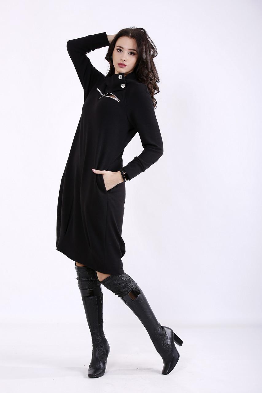 Черное платье свободное для полных девушек