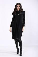Черное платье свободное для полных девушек, фото 2