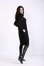 Черное платье свободное для полных девушек, фото 3