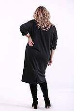 Платье на каждый день для полных женщин темно-серое, фото 3