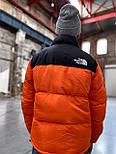 Пуховик - Чоловічий Пуховик The North Face x Supreme Nuptse 700 Orange, фото 3