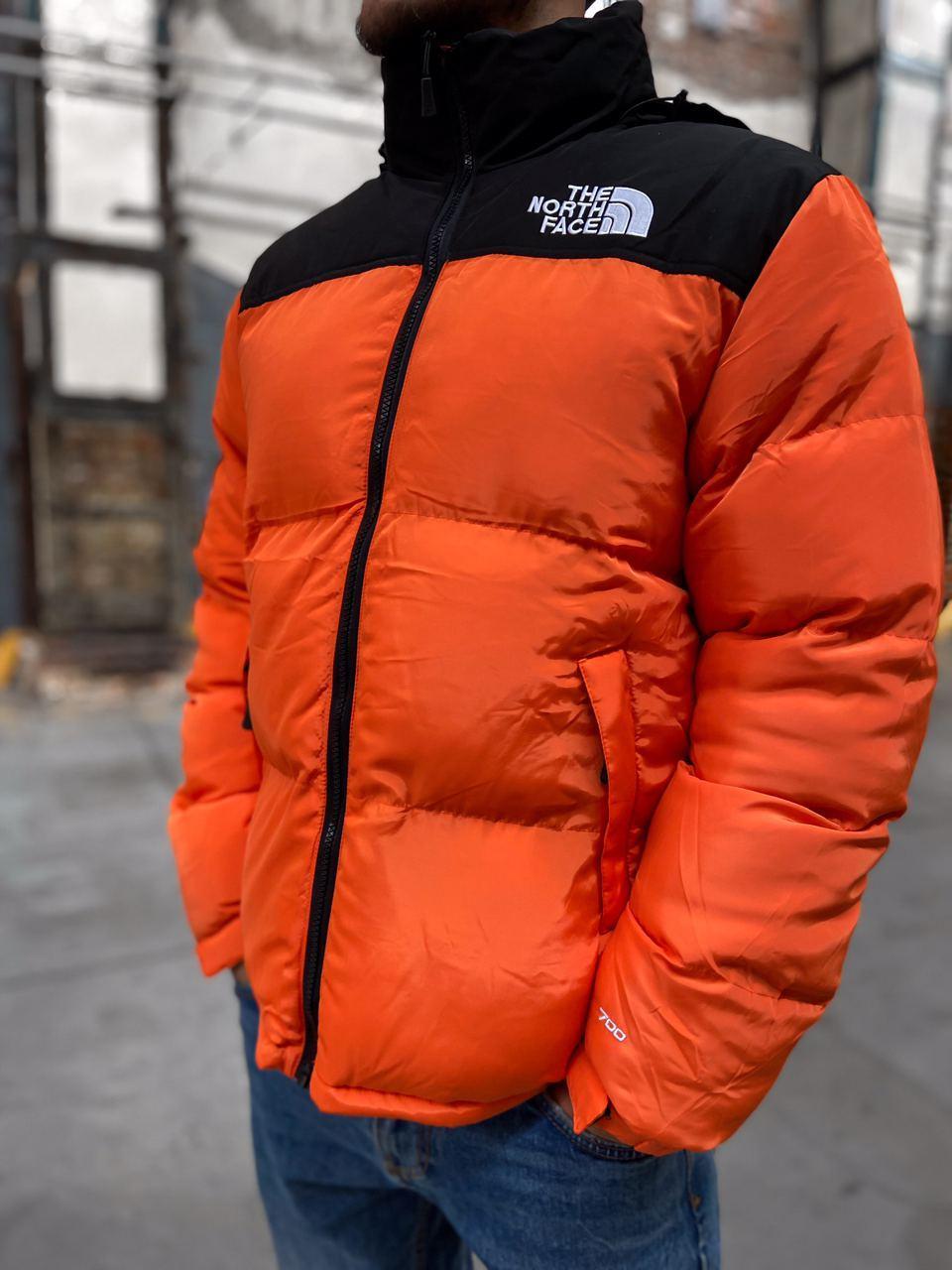 Пуховик - Чоловічий Пуховик The North Face x Supreme Nuptse 700 Orange