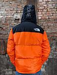 Пуховик - Чоловічий Пуховик The North Face x Supreme Nuptse 700 Orange, фото 4