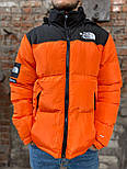 Пуховик - Чоловічий Пуховик The North Face x Supreme Nuptse 700 Orange, фото 8