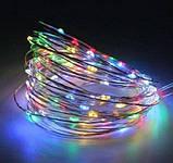 Гирлянда LED светодиодная разноцветная 2м на батарейках, фото 2