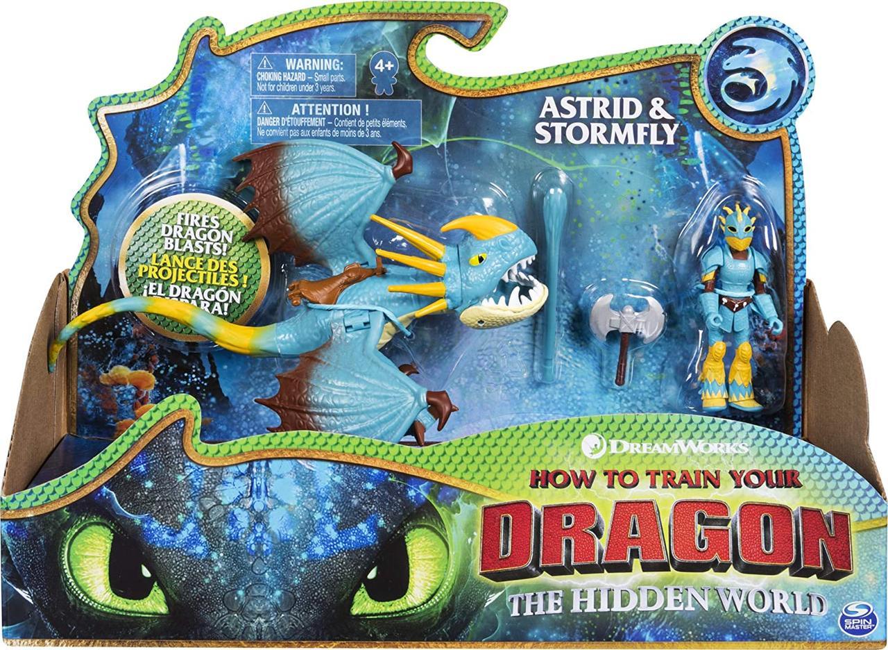 Dragons DreamWorks Астрид и Громгильда (Stormfly and Astrid) из мультфильма Как приручить дракона Spin Master