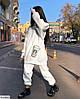 Женский костюм двойка, тёплый уютный объёмный костюмчик. Ткань: трёхнить на флисе. Цвета: белый и бежевый., фото 5