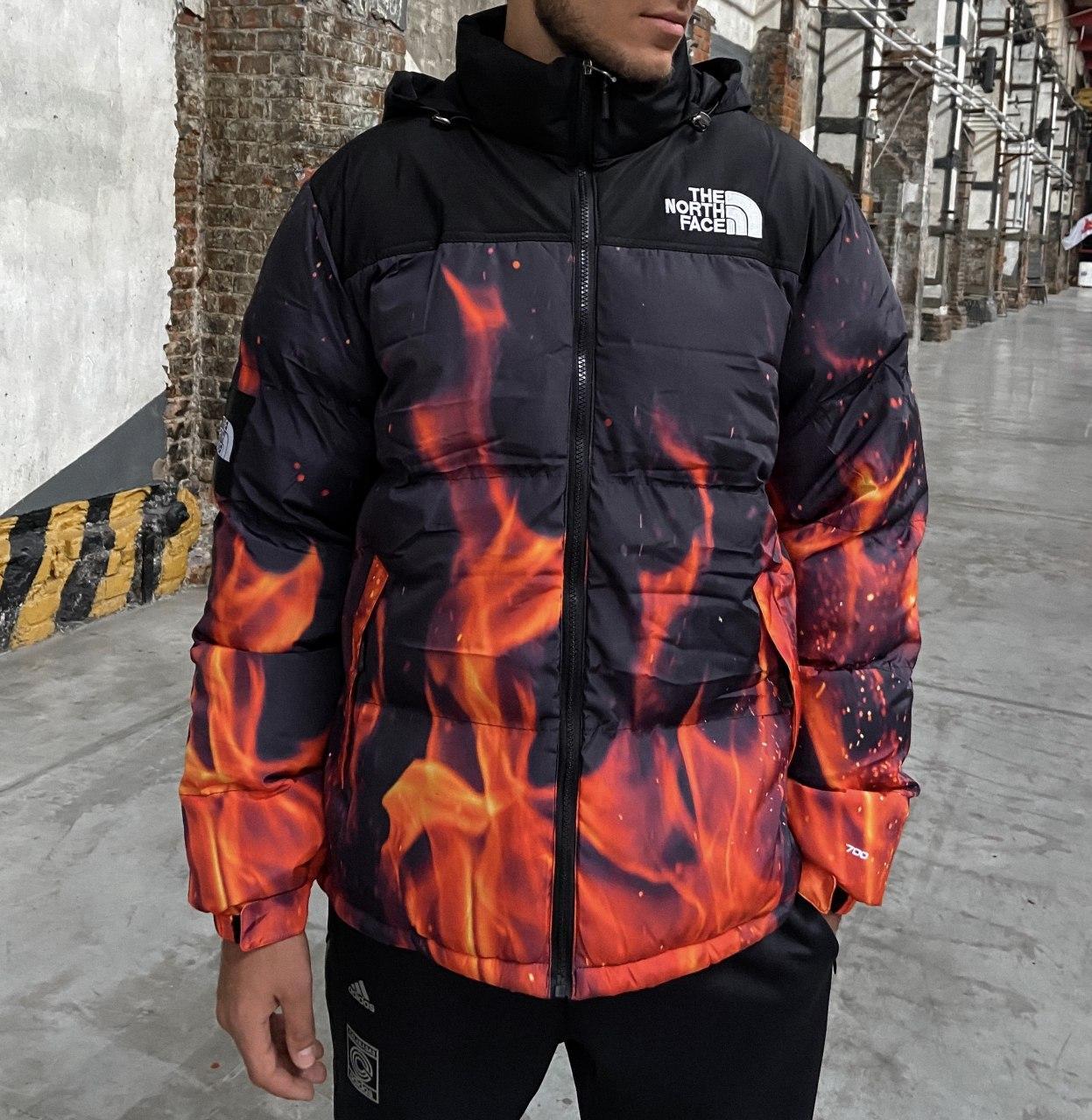 Пуховик - Мужской Пуховик The North Face 700 - Fire