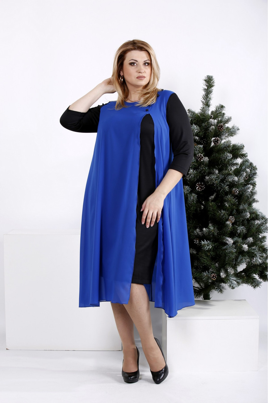 Трикотажное платье больших размеров