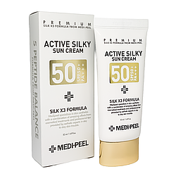 Солнцезащитный крем с комплексом пептидов Medi-Peel Active Silky Sun Cream SPF 50 + PA +++