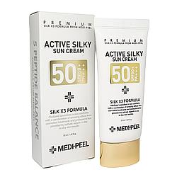 Сонцезахисний крем з комплексом пептидів Medi-Peel Active Silky Sun Cream SPF 50 + PA +++