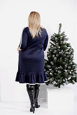 Синее платье а-силуэта для полных женщин, фото 3
