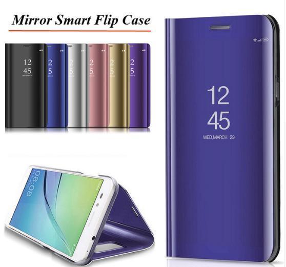 Комплект стекло на дисплей + Зеркальный Smart чехол-книжка Mirror для Xiaomi Redmi Note 7 /