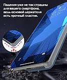 Комплект скло на дисплей + Дзеркальний Smart чохол-книжка Mirror для Xiaomi Redmi Note 7 /, фото 3