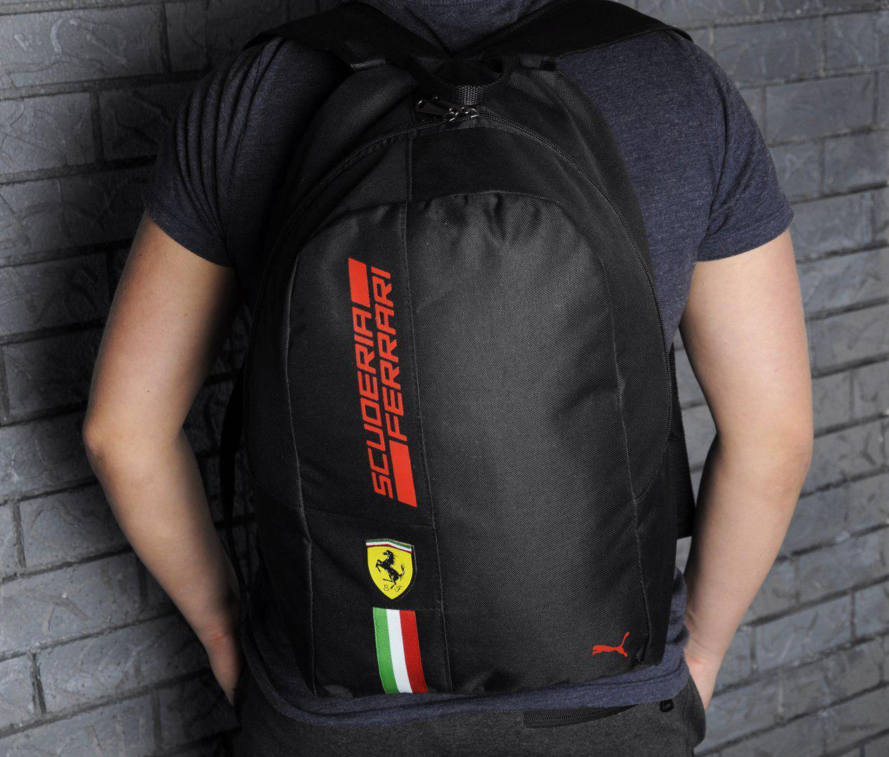 Городской рюкзак в стиле Puma Ferrari Fanwear Backpack черного цвета