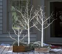 """Новогоднее декоративное дерево-гирлянда """"Береза"""" 160 см 96 Led IP 44 Теплый белый"""