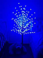 """Новогоднее декоративное дерево-гирлянда """"Береза"""" 160 см 96 Led IP 47 Синий"""