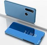 Комплект стекло на дисплей + Зеркальный Smart чехол-книжка Mirror для Xiaomi Redmi Note 8 /, фото 10