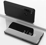 Комплект стекла + Зеркальный Smart чехол-книжка Mirror для Xiaomi Redmi Note 8 /, фото 8