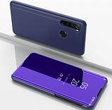 Комплект стекла + Зеркальный Smart чехол-книжка Mirror для Xiaomi Redmi Note 8 /, фото 9