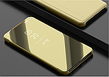 Комплект стекло на дисплей + Зеркальный Smart чехол-книжка Mirror для Xiaomi Redmi Note 8T /, фото 6