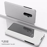 Комплект Стекла + Зеркальный Smart чехол-книжка Mirror для Xiaomi Redmi Note 8 Pro /, фото 9