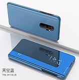 Комплект Стекла + Зеркальный Smart чехол-книжка Mirror для Xiaomi Redmi Note 8 Pro /, фото 10