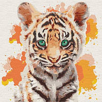 "Картина по номерам. ""Маленький тигр"" 30*30см KHO4195"